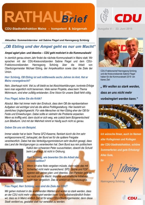 Rathausbrief der Fraktion