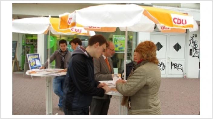 Infostand des CDU-Kreisverbandes